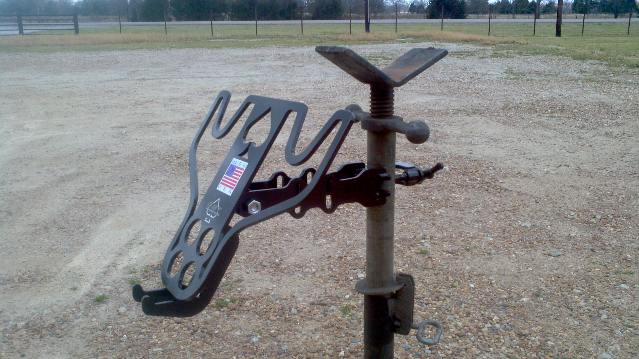 Jack stand holder custom built welding tools for for Fabrication stand